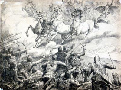 Азанбек Джанаев. Бой нартов с небожителями