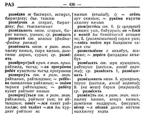 Несколько статей словаря. Весь словарь в таком виде по ссылке выше